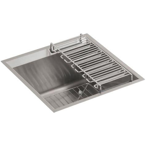 stainless steel single bowl undermount kitchen kohler prolific undermount stainless steel 33 in single