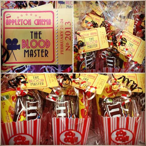 themed party movies my movie themed party favors i made for a cast party
