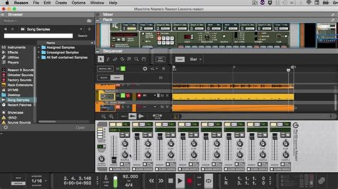 drum groove tutorial propellerhead reason maschine masters