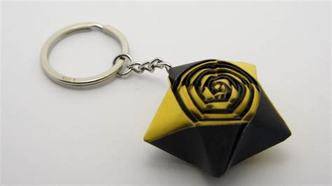 How To Make A Keychain With Paper - how to make an origami keychain