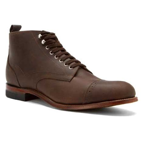 brogan shoes leather brogan boot brown