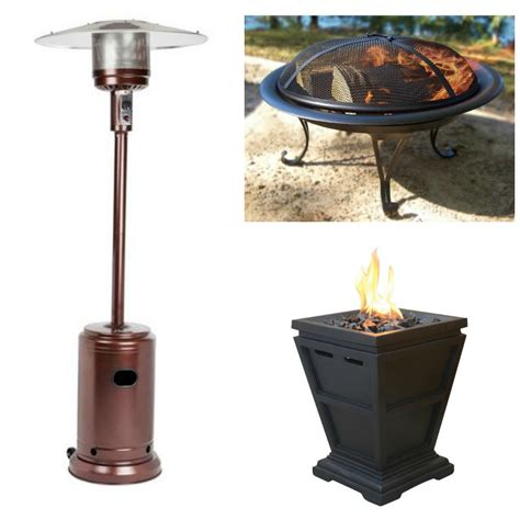 40 outdoor heaters firepits today only