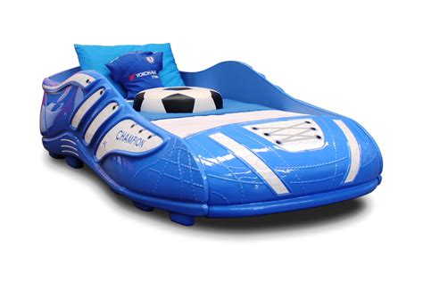 football beds kids football soccer rugby blue boot bed clearance price limited stock ebay