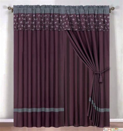 Gray And Purple Curtains Ideas Purple And Grey Curtains Buy Anya 84 Inch Grommet Window Curtain Panel In Purple Grey From Bed
