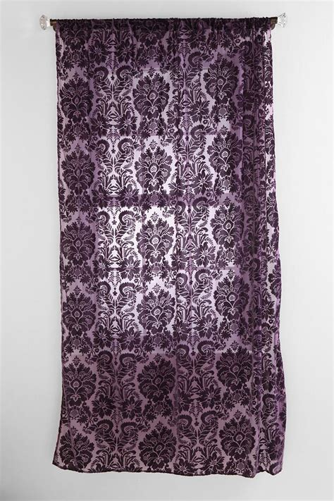 damask velvet burnout curtain damask velvet burnout curtain apartment pinterest