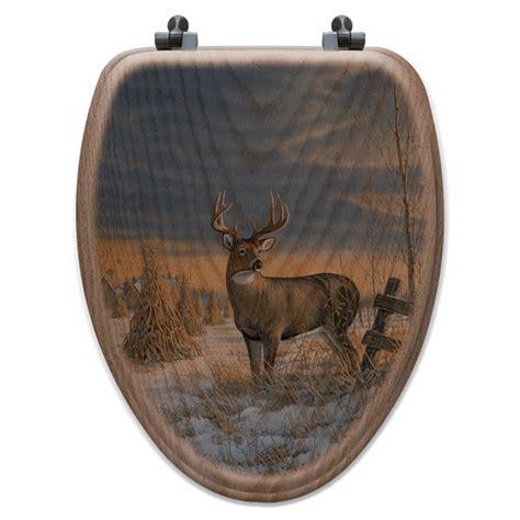 whitetail deer bathroom accessories whitetail deer in winter toilet seat elongated