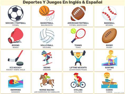 Deportes Y Am by Los Deportes Y Los Juegos En Ingl 233 S En Listas E Im 225 Genes