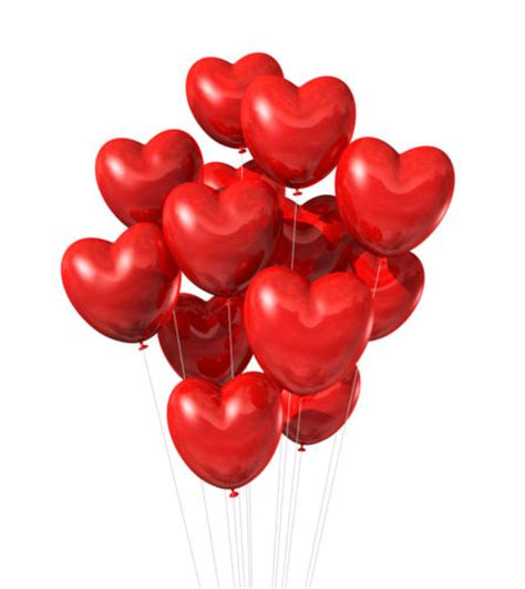 Heart shaped helium balloons flower n petals