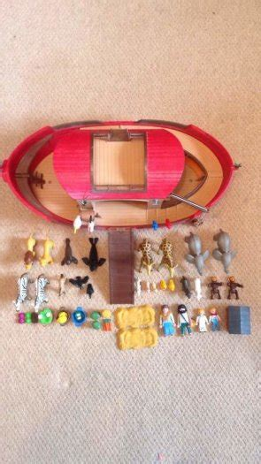 noah s ark boat with animals playmobil noahs ark boat with animals for sale in lorrha