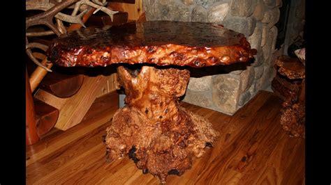 australian burl rustic table red mallee burl  salmon