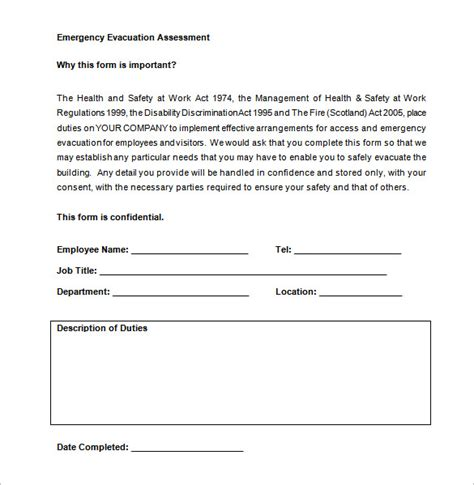 evacuation plan template free emergency evacuation plan template pdf templates