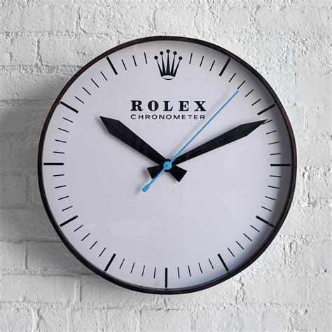 wall watch this 1960s rolex wall clock will instantly upgrade any