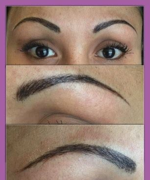 tattoo eyebrows in omaha ne brow microblading over old faded tattoo enduring esthetics