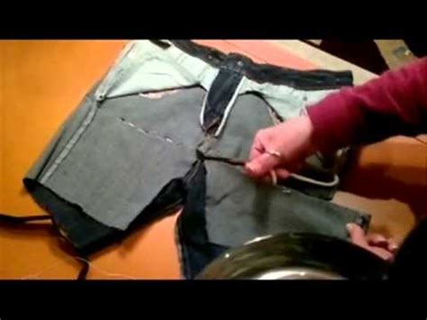 como hacer un pantalon de papel youtube diy reciclar un vaquero viejo en neceser youtube