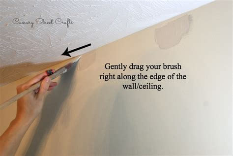 Cutting In A Ceiling by How To Cut In When Painting Without Canary
