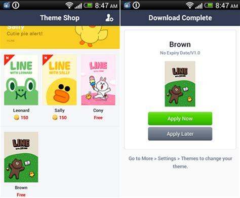 themes line untuk android cara mudah mengganti tema line di android dengan line