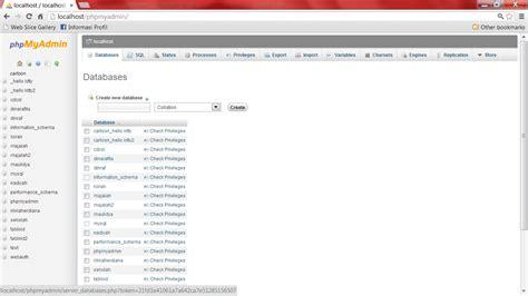 membuat database website dinamis contoh membuat database dengan xp contoh box