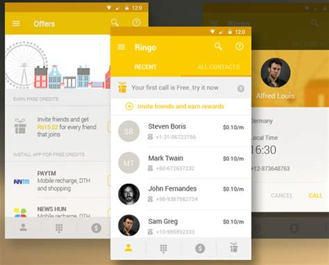 app design yellow 40 material design android apps for clean user interfaces