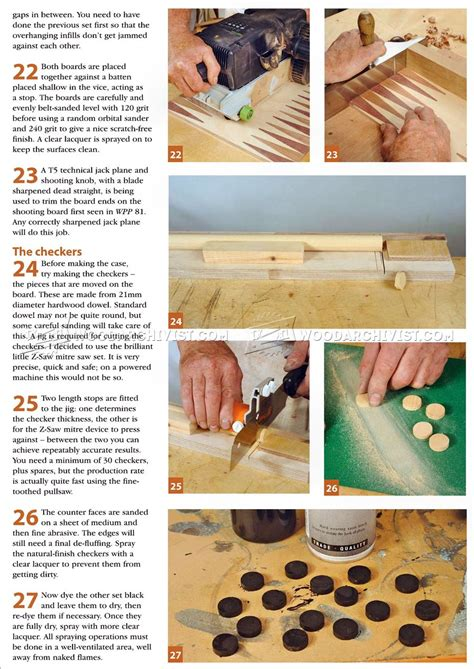 backgammon board plans woodarchivist