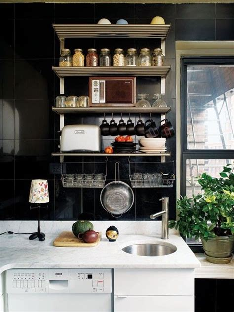 Small Kitchen Organizing Ideas Love The Vertical Shelving Great Color Too Small Kitchen