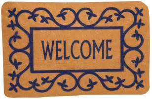 putting out the welcome mat