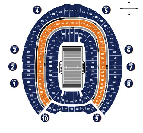 denver broncos stadium seating chart 3d invesco field seating chart invesco field u2 seating