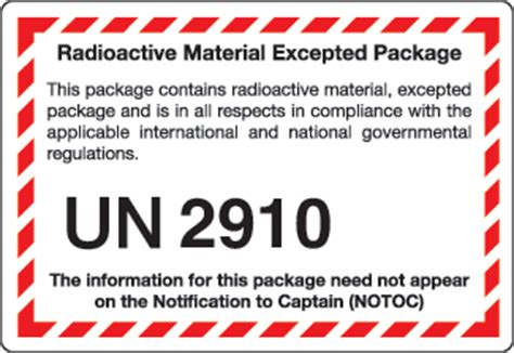 printable excepted quantity label quantity related shipping and handling labels icc
