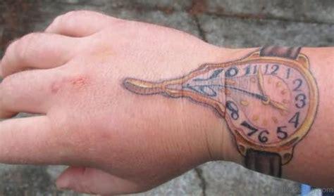 melting clock tattoo 30 optical clock tattoos on wrist