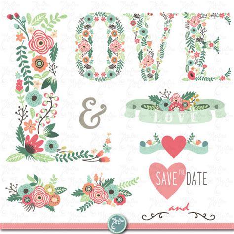Wedding Banner Letters by Wedding Clipart Quot Floral Letter Quot Clip Vintage