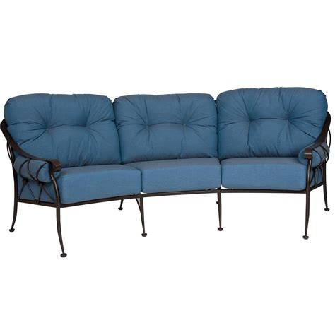 crescent sofa pictured is the derby crescent sofa from woodard outdoor