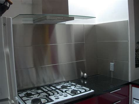 Kitchen With Stainless Steel Backsplash stainless steel tile backsplash home depot roselawnlutheran