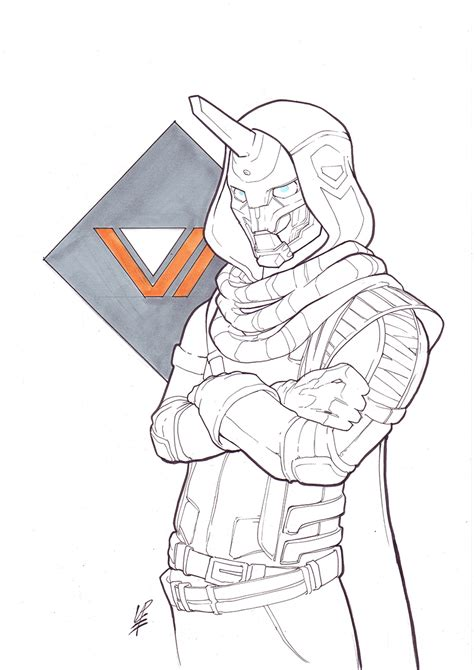 Destiny 2 Sketches by Destiny Cayde 6 By Forgeworlds On Deviantart