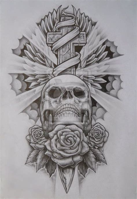 skull and cross tattoo skull and crossbones for skull and