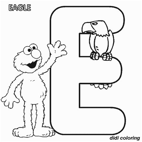 e coloring pages preschool printable preschool alphabets uppercase letter e eagle