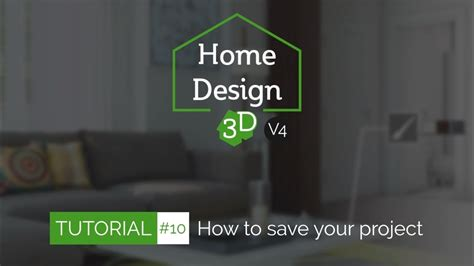 home design 3d youtube home design 3d tuto 10 how to save share your project