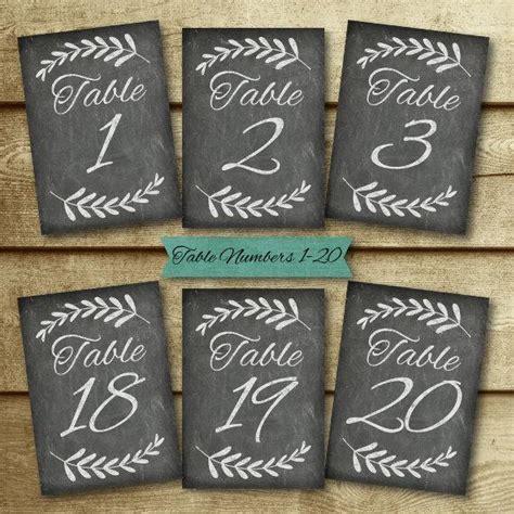 chalkboard wedding table number set wedding table signs