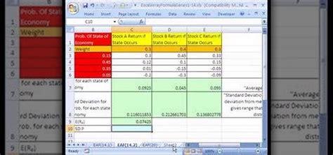 how to analyze a stock portfolio with excel array