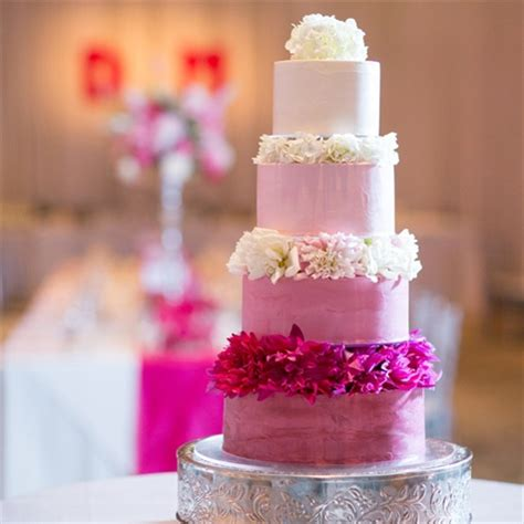 wedding cake of the day pink ombr flower wedding cake ombre wedding cakes a wedding cake blog