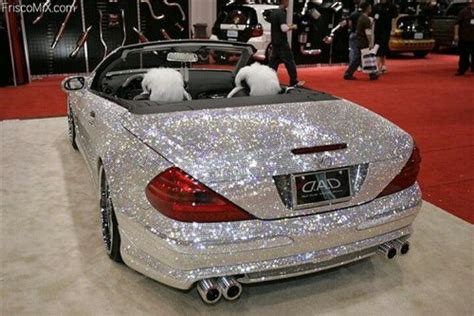 pink sparkly mercedes diamonds are a best car complete