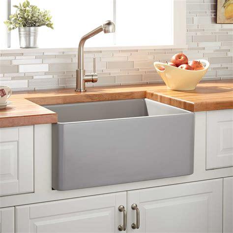 20 reinhard fireclay farmhouse sink 20 quot reinhard fireclay farmhouse sink gray kitchen