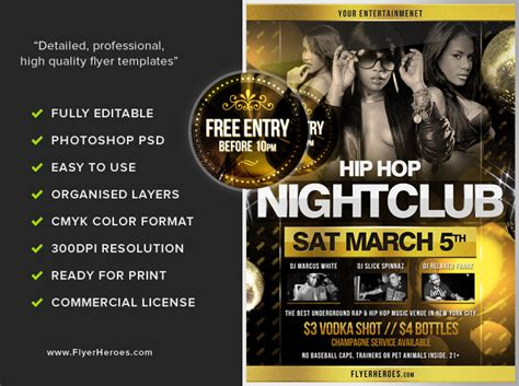 free hip hop flyer templates hip hop flyer template 2 flyerheroes