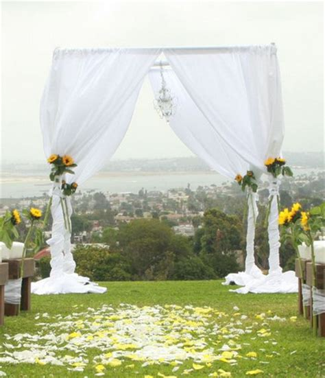 Curtains Home Decor pipe and drape chuppah white chiffon