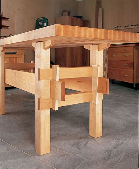 wedged base workbench workbench woodworking workbench