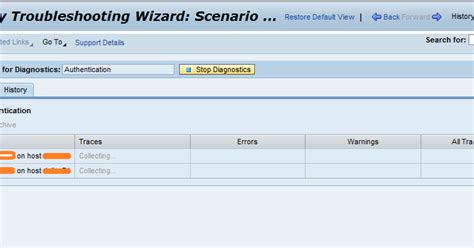 sap nwa tutorial sap nw 7 3 security troubleshooting wizard screenshot