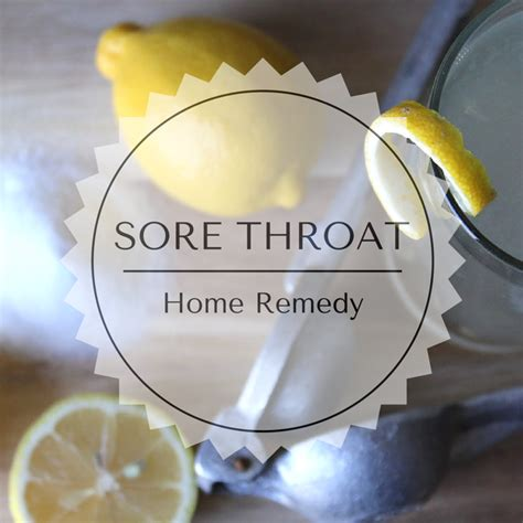 sore throat home remedy my plot of