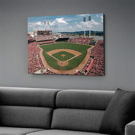 cincinnati reds home decor inside great american ball park canvas print shop