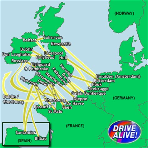 map uk ferry routes ferries to europe cheap prices on all major ferry routes