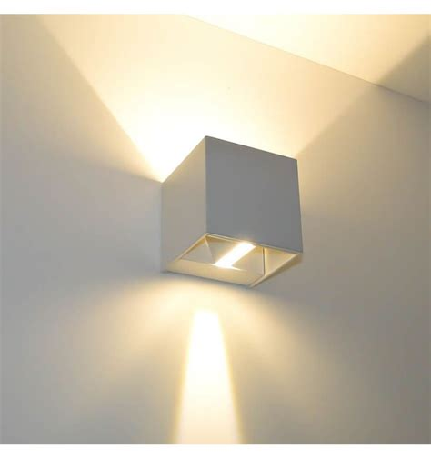 applique led design applique murale blanche led design quot cubic quot kosilum