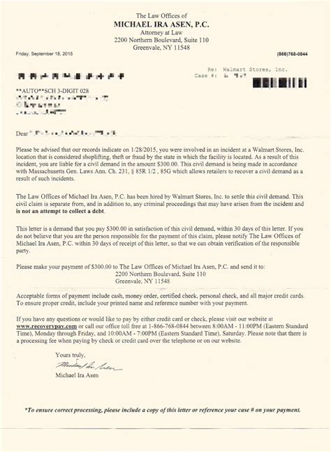 Apology Letter To Walmart For Shoplifting Claim Letter Intent Claim Against The City San Pablo For Violating Civil Rejection Letter For