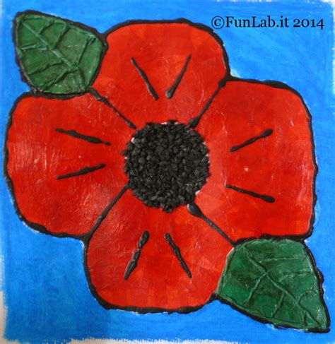 Kids Craft Center - quot red poppy quot beautiful art for little hands funlab blog english